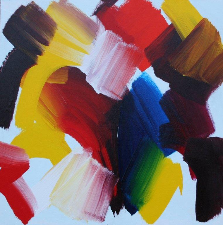 David Harry Serendipity Acrylic on canvas 91x91cm