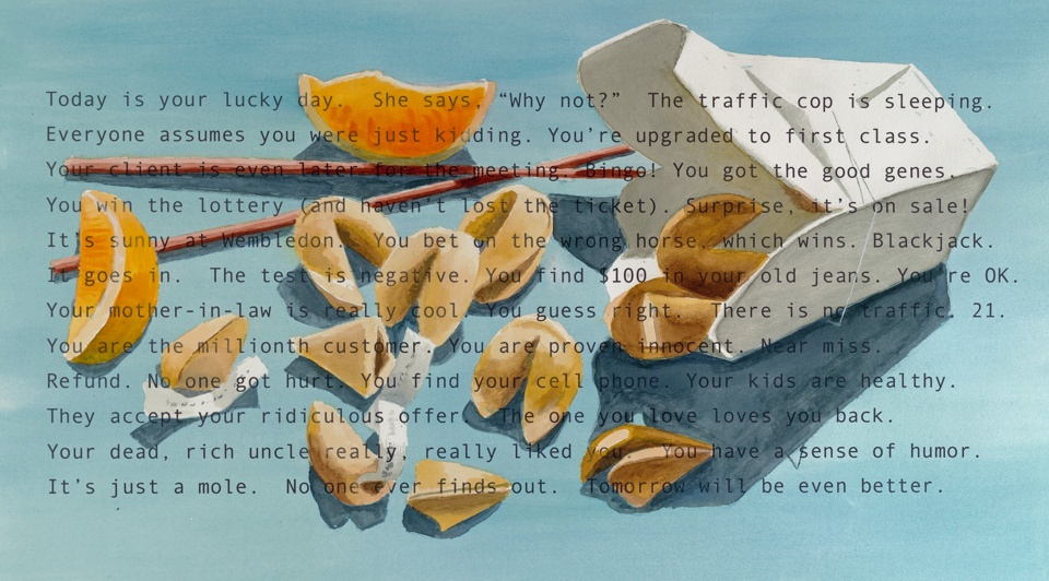 John Nieman You Are my Good Fortune Mixed media