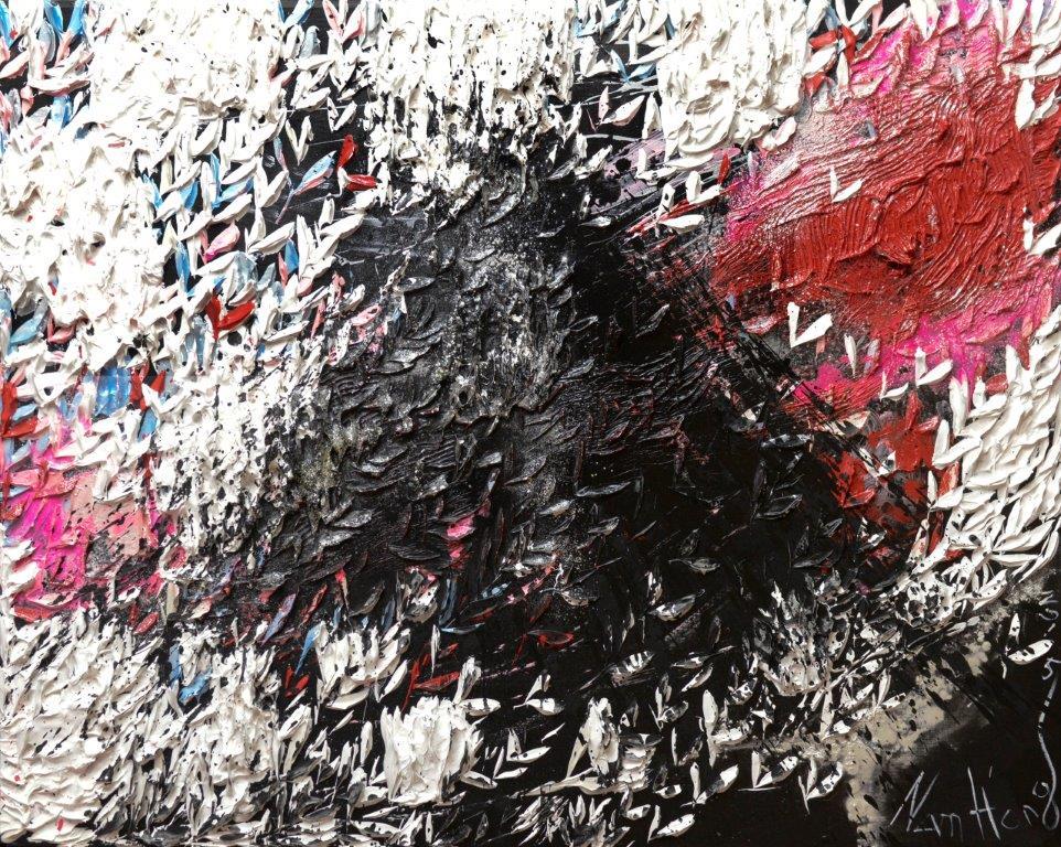 Nam Hong La Montagne Acrylic on canvas 81x100x5 cm 1
